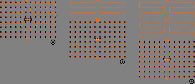 Схема площадных исследований с